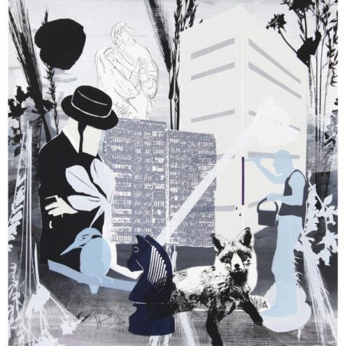 Petra Berghorst - De Paardensprong, 2018, Zeefdruk op papier, 50x70cm